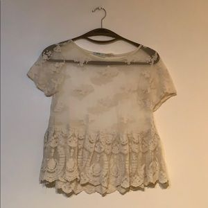 urban outfitters kimchi blue sheer top